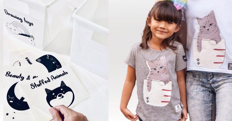 Sticker and T-shirts design